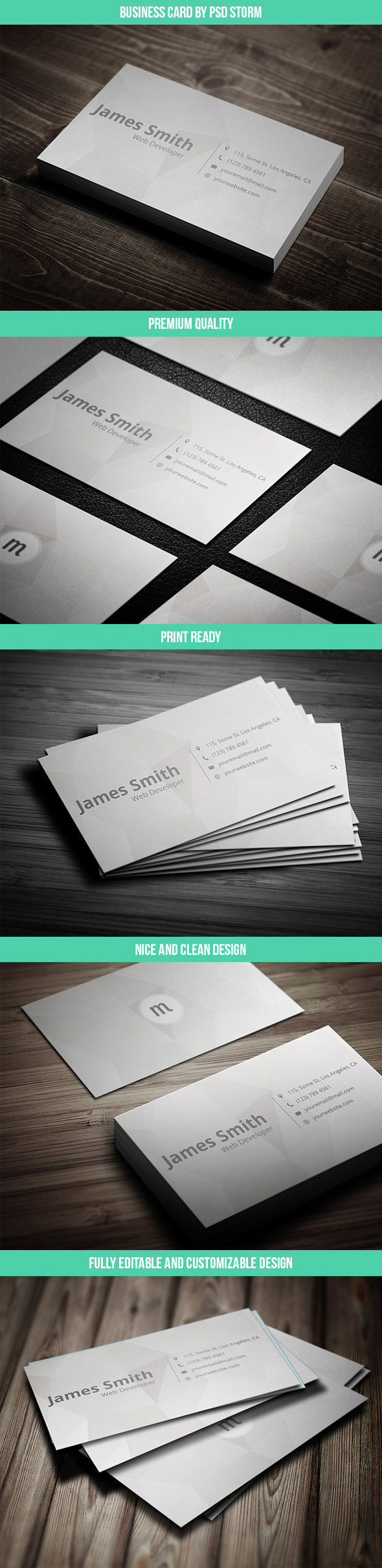 Minim - Clean and Minimal Business Card Template on Behance