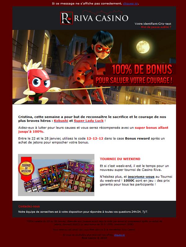 Code bonus pour casino riva calneva hotel and casino
