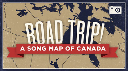 Map Of Canada Song.Road Trip A Song Map Of Canada On Pantone Canvas Gallery