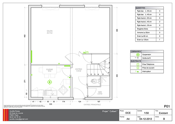 colbert maison individuelle sartrouville 50m2 on behance. Black Bedroom Furniture Sets. Home Design Ideas