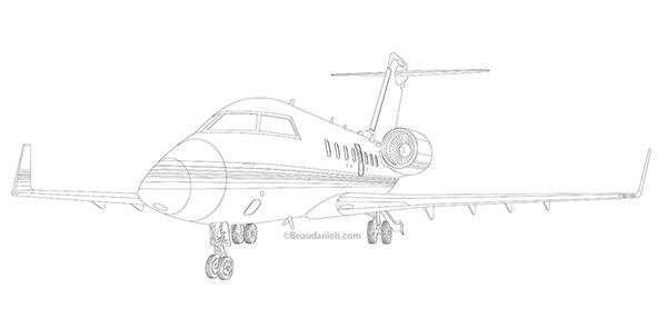 Line Art Jet : Corporate jets on wacom gallery