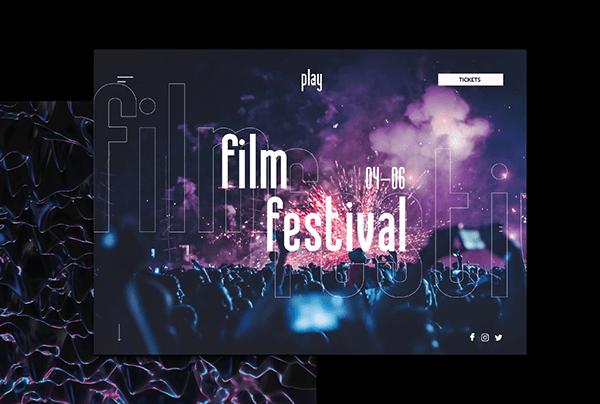 Concept | Film Festival | Landing page