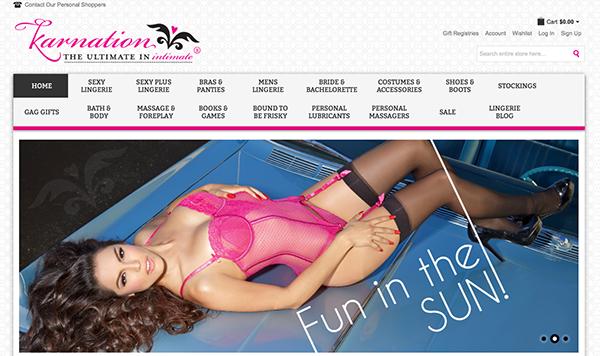 Karnation Lingerie - E-commerce Website