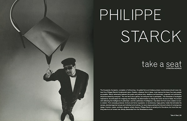 philippe starck magazine article on behance