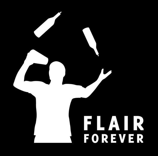 Logo for flair bartending team Flair Forever.