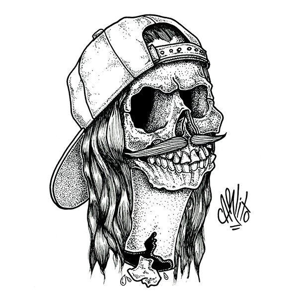 skulls with a snapback on behance