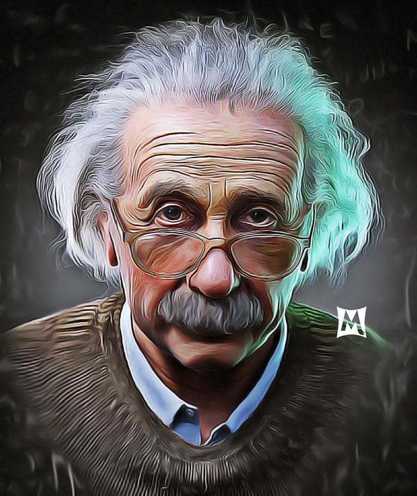Albert Einstein Digital Painting On Pantone Canvas Gallery
