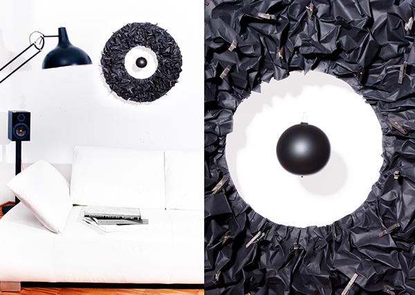 D-Donut the decoration system wall decoration Produktdesign paper handmade wood glas