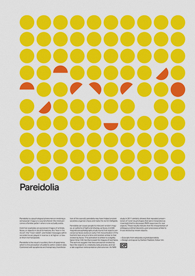 pareidolia pattern poster on behance