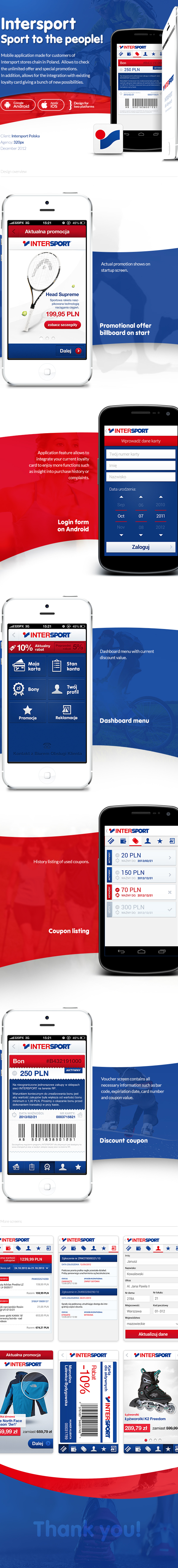 Intersport mobile app ios7 android 320px rzmota passbook card sport store