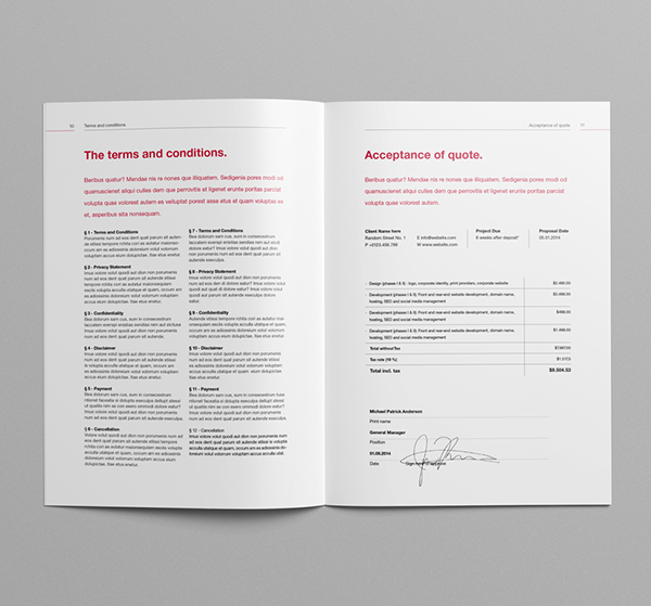 proposal template suisse design v2 on behance