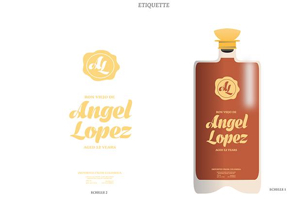angellopez print 3D bouteille packa alcool RHUM logo