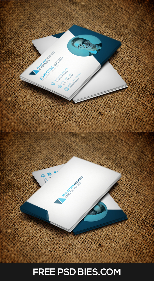 Free Simple Clean Creative Business Card Template
