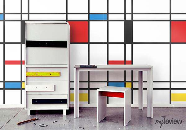 inspiration by artist piet mondrian on behance. Black Bedroom Furniture Sets. Home Design Ideas
