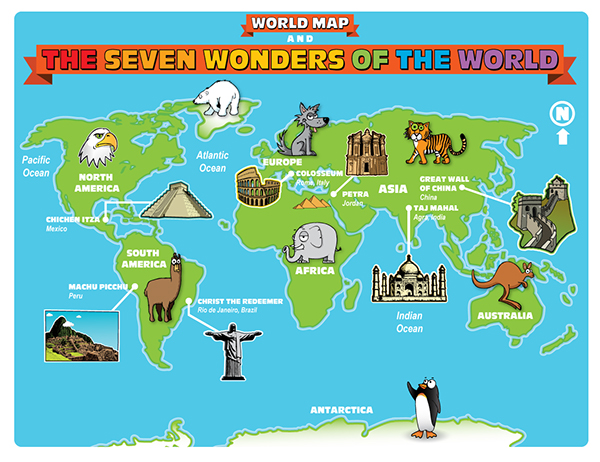 the seven wonders of the world on pantone canvas gallery the seven wonders of the world