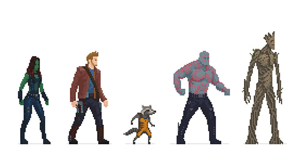 Guardians Of The Galaxy Pixel On Behance
