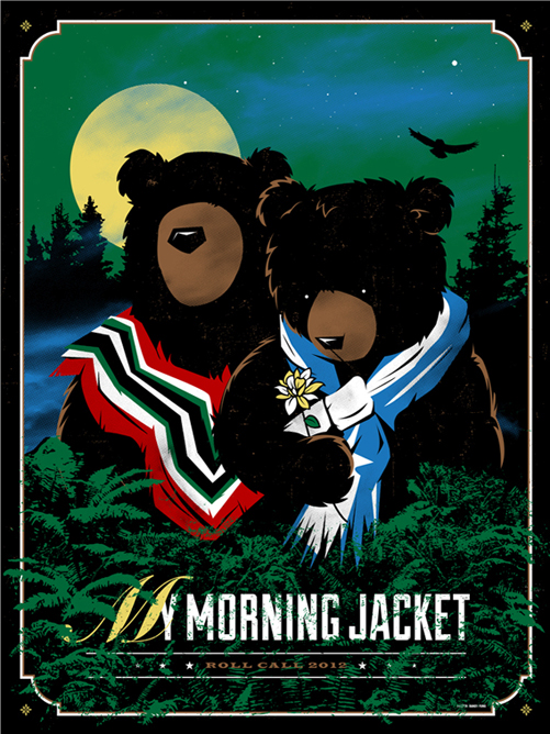 Image result for my morning jacket roll call shirt
