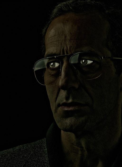 portrait digital manipulation black eyes skin
