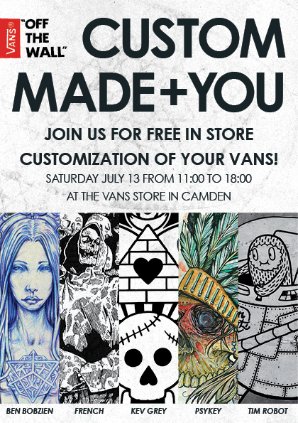 cf4bcded24 VANS CUSTOM MADE + YOU TOUR 2013 on Behance