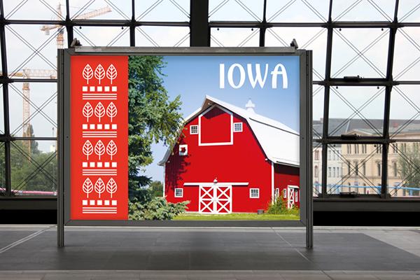 brand logo iowa bag Tote apparel merchandise promo Promotion gift souvenir usa local pattern farm
