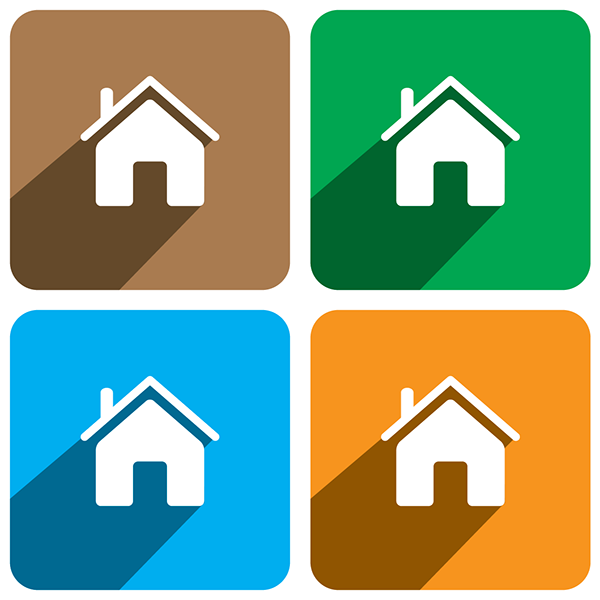 home icon flat design on behance