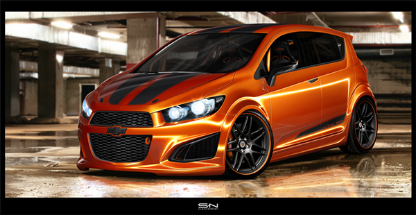 Virtual Tuned 2011 Chevrolet Aveo Rs On Behance