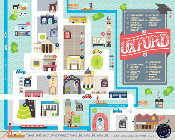 Oxford City Map