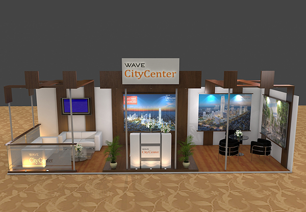 Property Exhibition Booth : Real estate company exhibition booth design on behance