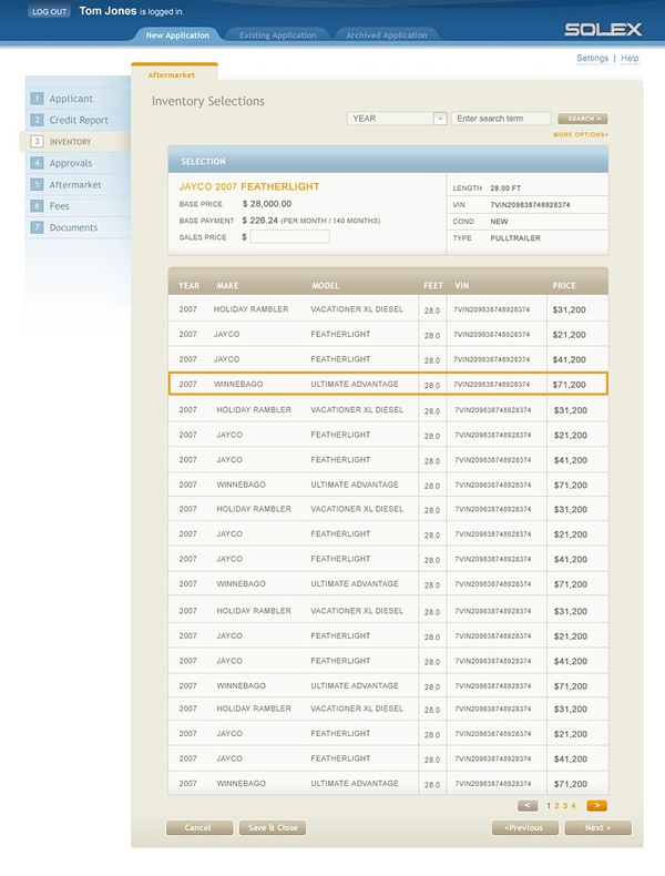Solex Online Lending UI on Behance