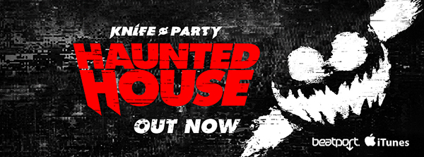 Knife Party - Haunted House EP Album Cover on Behance