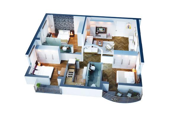 isometric floor plan render in 3d on behance