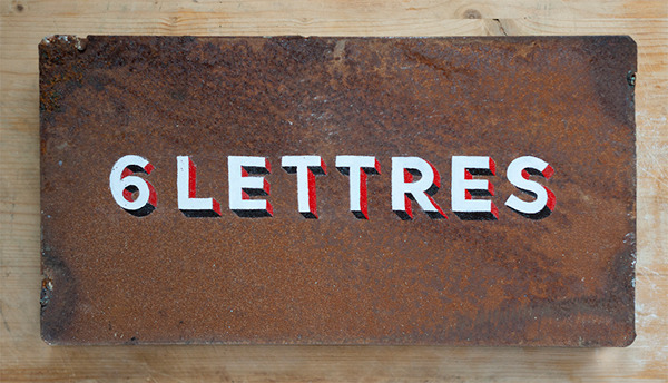 HAND LETTERING Hand Painting sign painting sign Julien raout 6 lettres lettres peintes peintre en lettres Paris Montreuil planche peinte one shot enamel brush mack brush
