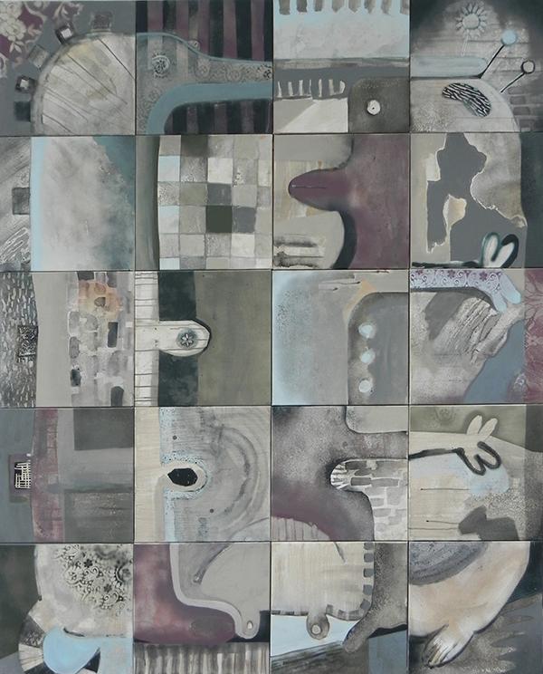 spray acrylic squares