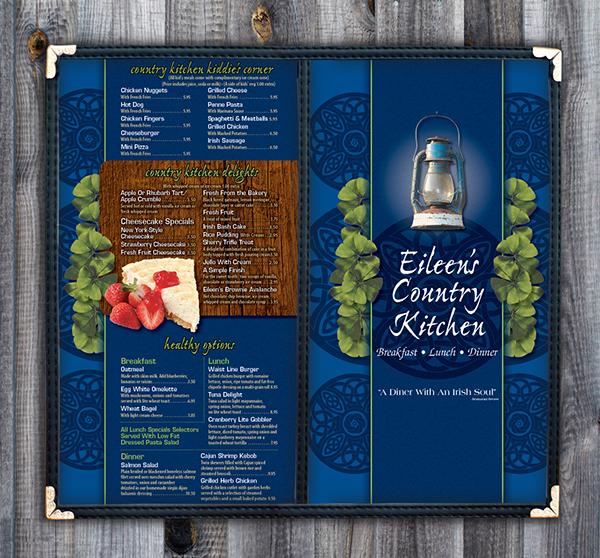 Eileen 39 S Country Kitchen Menu On Behance
