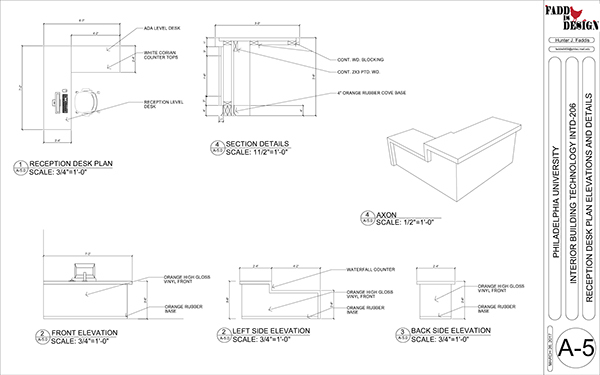Construction Documents For A Commercial Office Space On Student Show