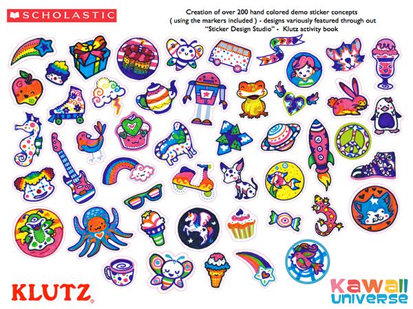 Scholastic klutz sticker design studio on behance