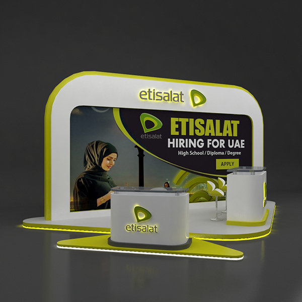 School Exhibition Stall Design : Etisalat stall design on student show