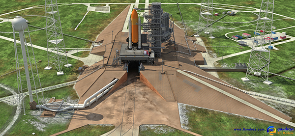 Most Detailed 3d Model Of Nasa Launch Complex On Behance