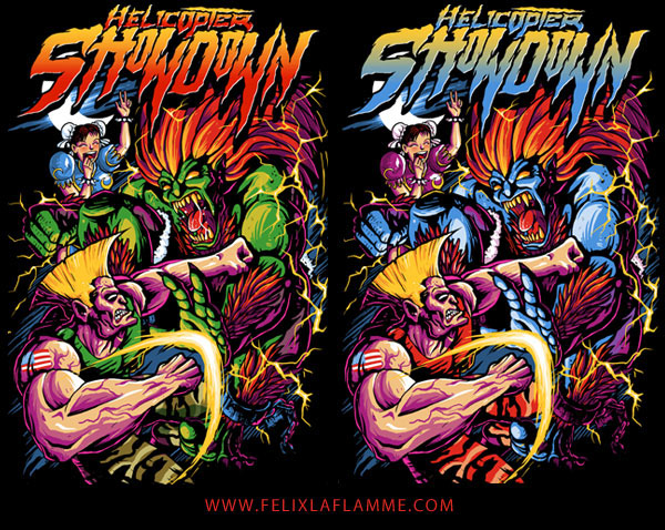 Hs Street Fighter2 T Shirt Illustration On Behance