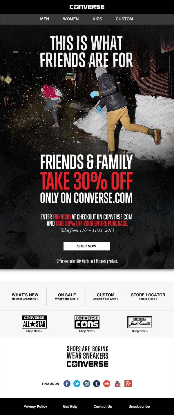 20cab7f00bfd69 Converse promotional email on Behance