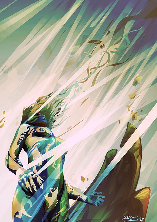 replenished Vector Illustration