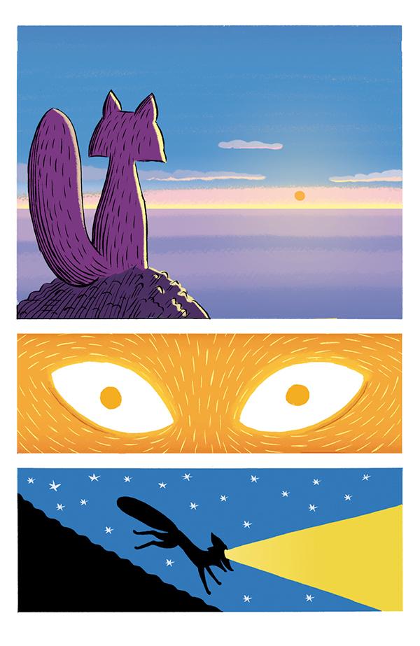 comic children books FOX Sailor teacher animals