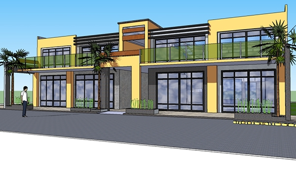 Proposed two storey commercial building on behance for Single story commercial building design