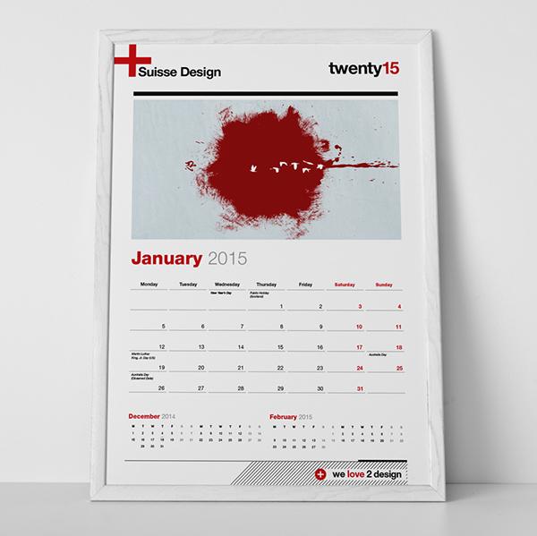 Calendars 2014 2015 Swiss Design A3 And Tabloid On Behance