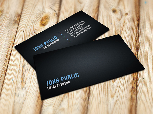 Black business card with tile pattern on behance for Tiler business card