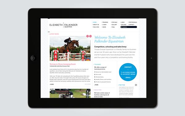 elizabeth falkinder  equestrian Identity Design  Website design  stationery