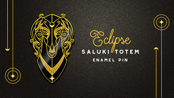Saluki Totem Enamel Pin Kickstarter on Pantone Canvas Gallery