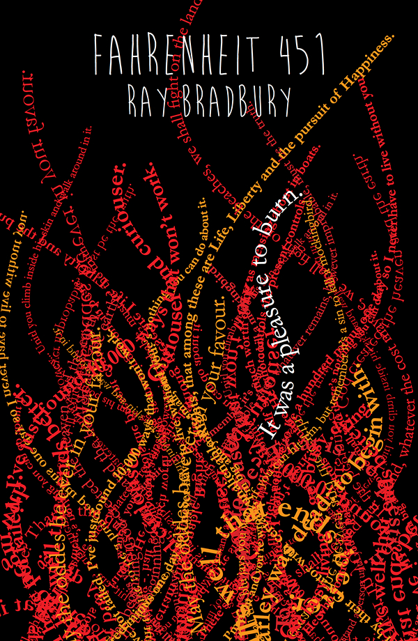 Fahrenheit 451 1984 book covers on behance for Mirror quotes in fahrenheit 451