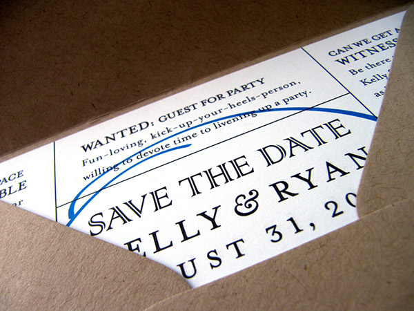 Newspaper Wedding Invitations: Summer In Maryland: Newspaper Wedding Invitation Suite On