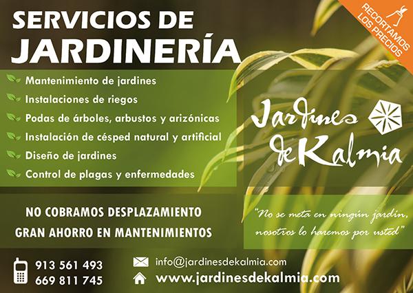2013 panfletos jardines de kalmia on behance - Imagenes de jardineria ...